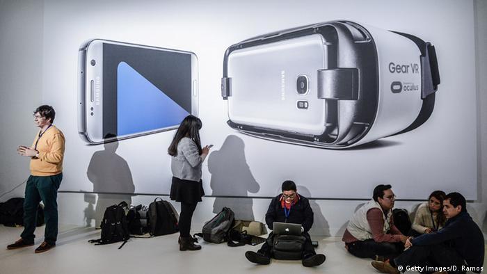 Barcelona Mobile World Congress 2016 Samsung S 7Gear VR