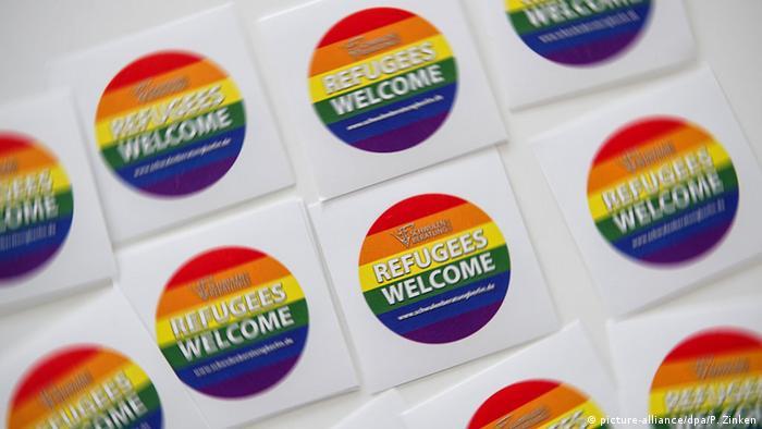 Наклейки Добро пожаловать, беженцы!