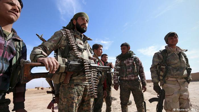 Syrien Hasaka Demokratische Kräfte Syriens Kämpfer