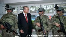 Türkei Ankara Erdogan und Spezialkräfte Gendarmerie