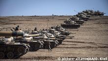 Türkei Grenze Syrien Militär Bodentruppen Panzerverband