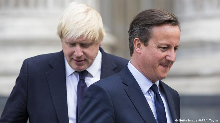Boris Johnson (esq.) e David Cameron: companheiros e rivais desde o internato