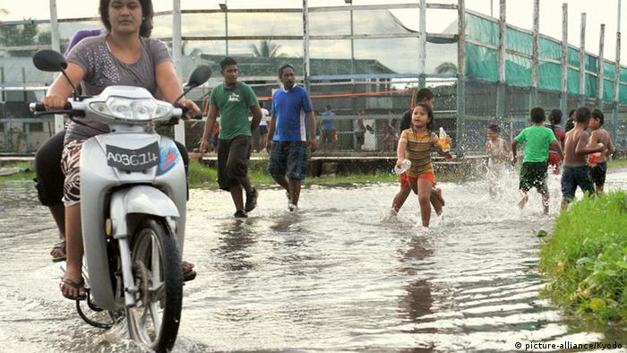 Pazifik Tuvalu Hochwasser