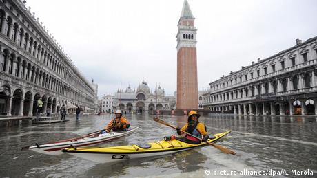 Italien Venedig Hochwasser