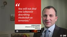 Gebran Bassil bei Conflict Zone