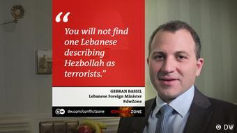 Gebran Bassil bei Conflict Zone