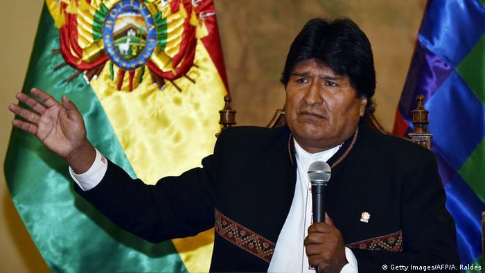 Bolivien Referendum Verfassungsreform Evo Morales (Getty Images/AFP/A. Raldes)
