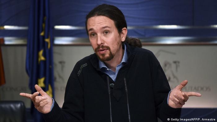 Spanien Podemos Pablo Iglesias