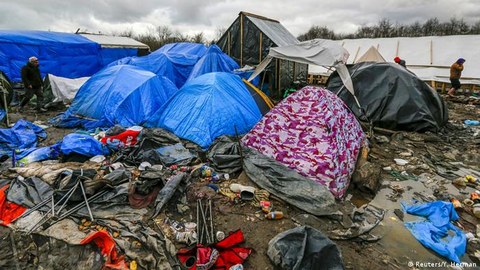 Refugee tents in Calais