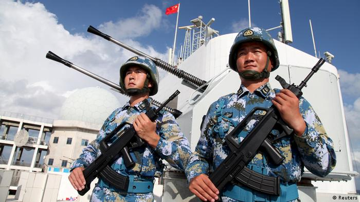 China Soldaten auf Spratly-Insel (Reuters)