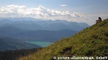 Deutschland Gipfel des Jochberg am Walchensee