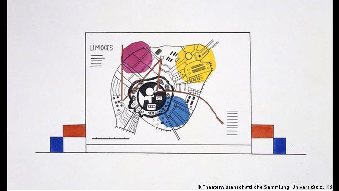 Рыночная площадь в Лиможе: эскиз Василия Кандинского на выставке в Дессау