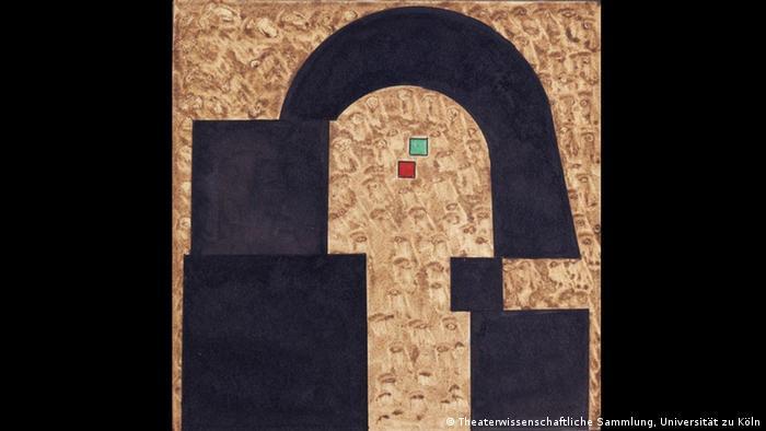Catacombae: эскиз Василия Кандинского на выставке в Дессау