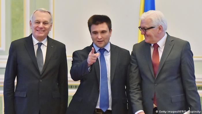 Ukraine Steinmeier, Ayrault und Klimkin