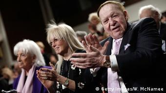 Miriam Ochshorn and Sheldon Adelson (photo: Getty Images/W. McNamee)