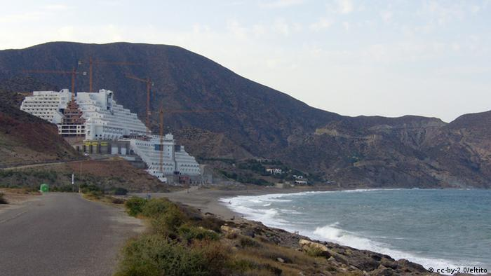 Hotel El Algarrobico in the natural park Cabo de Gata, Spain