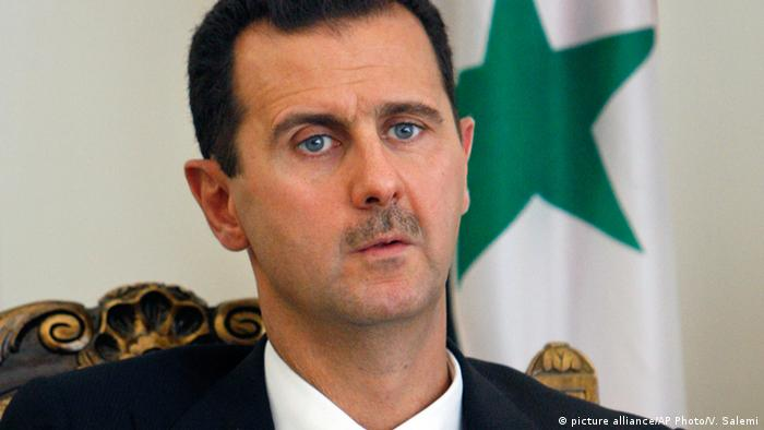 Syrien Präsident Bashar al-Assad (picture alliance/AP Photo/V. Salemi)