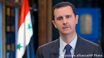 Syrien Präsident Bashar al-Assad (picture alliance/AP Photo)