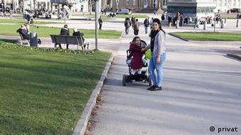 Džemila Hamzić s djecom u Stuttgartu