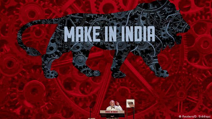 Indien Narendra Modi Werbekampagne Make In India (Reuters/D. Siddiqui)