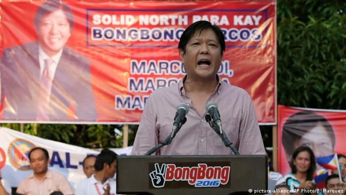 Philipinen Ferdinand Bongbong Marcos (picture-alliance/AP Photo/B. Marquez)