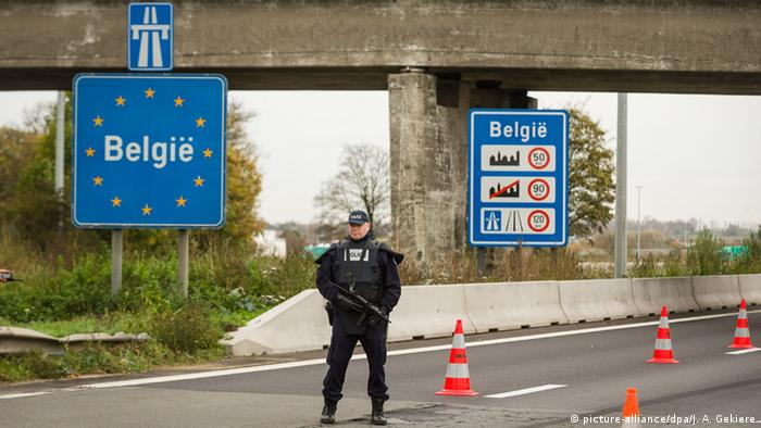 Border control between France and Belgium
