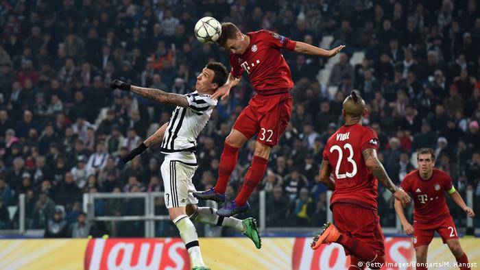 Joshua Kimmich struggled defensively against Juventus.