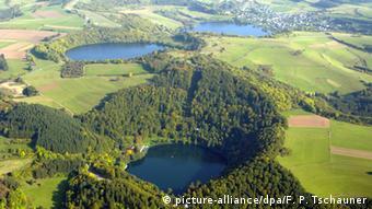 Dauner Maar in the volcanic Eifel region