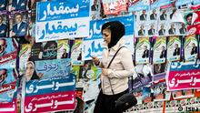 Title: Bildergalerie Iran Wahlen 2016 Bildbeschreibung: Wednesday (24.02.2016) marks the last day of campaigning for Iran's parliamentary and Assembly of Experts elections, with candidates trying to reach as many supporters as possible, whether in person through posters or social media. Schlagwort: Iran, Wahlen, Election, Assembly of Experts, Parlament, Parlamentswahlen, Expertenrat © Isna
