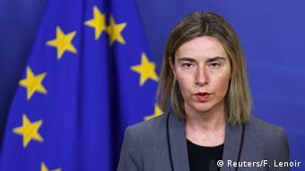 EU Federica Mogherini Pk in Brüssel