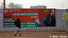 Niger Niamey Präsidentschaftswahl Plakat Wahlkommission CENI