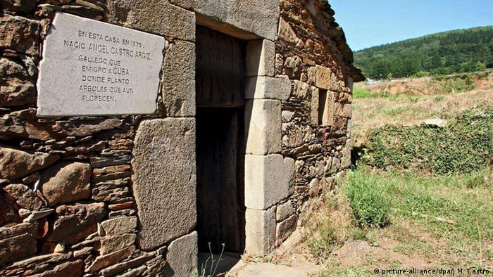 Spanien Geburtshaus von Fidel Castros Vater in Lancara