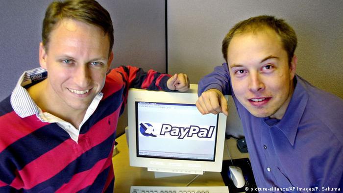 USA Peter Thiel und Elon Musk von PayPal