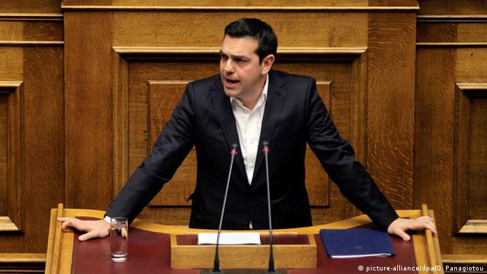 Griechenland Parlament Premierminister Alexis Tsipras