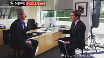 Apple Vorstandsvorsitzender Tim Cook im Interview mit ABC News