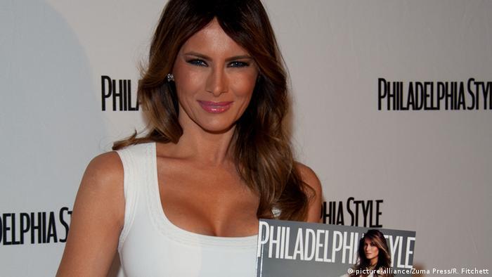 USA Philadelphia Melania Trump (r)