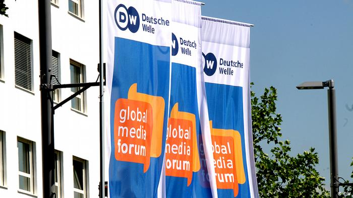 GMF Global Media Forum Flaggen Deutsche Welle