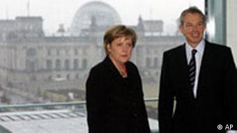 Tony Blair besucht Angela Merkel in Berlin