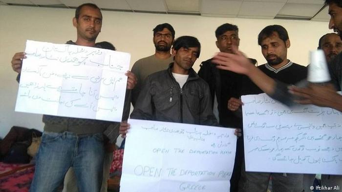 Griechenland Pakistan Flüchtling Protest