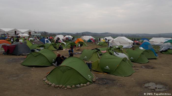 Табір біженців поблизу грецького села Ідомені