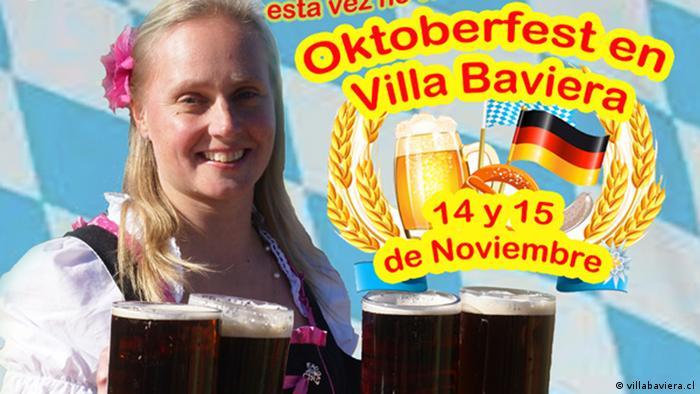 Chile Plakat Oktoberfest 2015 Villa Baviera (Foto: villabaviera.cl)