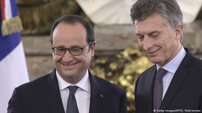 Argentinien Besuch Präsident Francois Hollande bei Mauricio Macri (Foto: JUAN MABROMATA/AFP/Getty) Images)