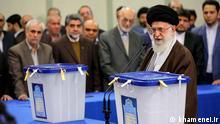 Iran Teheran Die Wahlen zum Parlament und Expertenrat Ali Khamenei