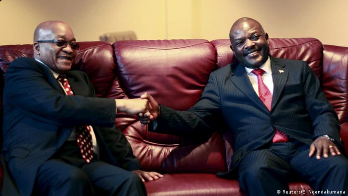 President Jacob Zuma and Pierre Nkurunziza