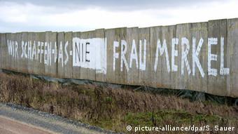 Anti-Merkel graffiti
