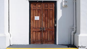 Doors of the Mother Emanuel church in Charleston.