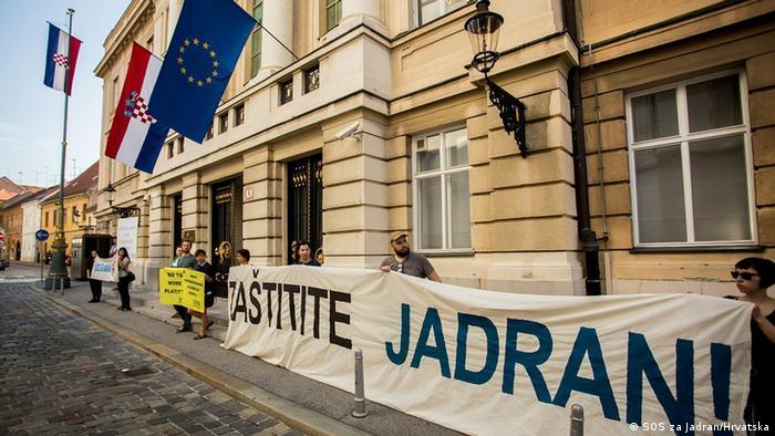 Zagreb Protest gegen Ölbohrungen in der Adria