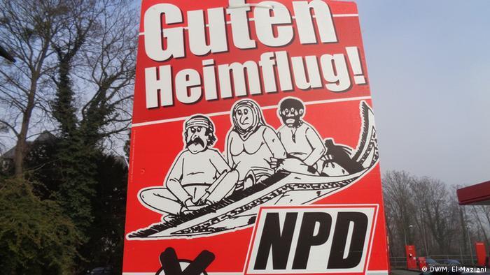 Deutschland Sinzig Landtagswahl Wahlplakat NPD