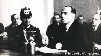 Helmuth James Graf von Moltke on trial in 1944 (Imago/ZUMA/Keystone)