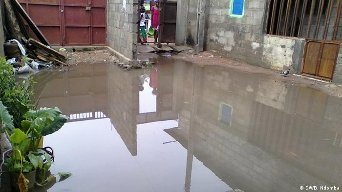 Stagnant water in Luanda